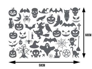 WHITE LABEL - planche de plus de 40 stickers pour halloween - Sticker