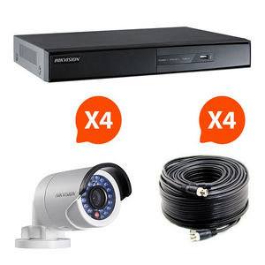 CFP SECURITE - video surveillance - pack 4 caméras infrarouge kit - Camera De Surveillance