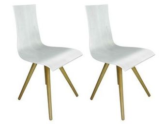MyCreationDesign - caucase blanc - lot de 2 - Chaise