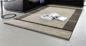 WHITE LABEL - samoa design tapis patchwork taupe 200x290 cm - Tapis Contemporain