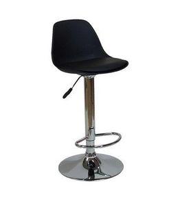 WHITE LABEL - chaises de bar fruit design noir - Chaise Haute De Bar