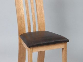 WHITE LABEL - chaise ecolo fleurine en chêne massif - Chaise