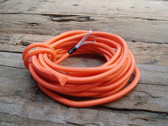 COMPAGNIE DES AMPOULES A FILAMENT - cable textile orange - Cable �lectrique