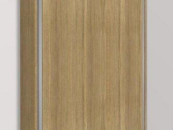 WHITE LABEL - armoire lit escamotable eos chêne couchage 160/200 - Lit Escamotable