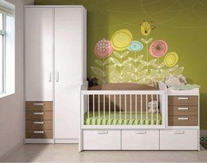 WHITE LABEL - chambre bébé évolutive en chambre d'enfant konala - Lit Enfant