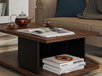 TemaHome - temahome table basse goa noyer - Table Basse Carrée