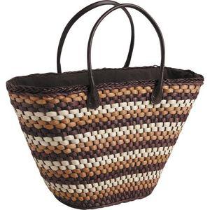Aubry-Gaspard - sac cabas anses en simili cuir - Cabas