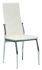 COMFORIUM - chaise de salle à manger coloris blanc et métal - Chaise