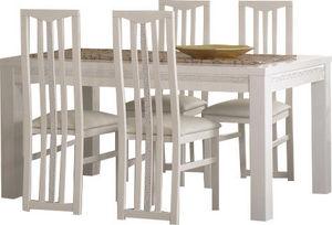 COMFORIUM - ensemble table à manger 190cm + 4 chaises design b - Salle À Manger