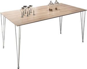 COMFORIUM - table design rectangulaire 180 cm coloris chêne cl - Table De Repas Rectangulaire