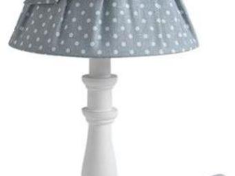 Aubry-Gaspard - lampe de chevet shabby chic 40cm bleu - Lampe À Poser
