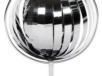 KOKOON DESIGN - lampe à poser satellite avec lamelles chromées 45x - Lampe À Poser