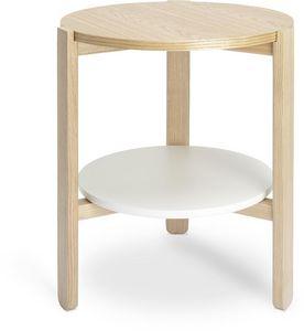 Umbra - table ronde en bois hub - Table D'appoint
