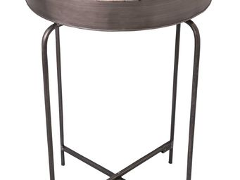 Antic Line Creations - table plateau rond en fer - Table D'appoint