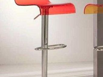 WHITE LABEL - chaise de bar virtual stool design transparente ro - Chaise Haute De Bar