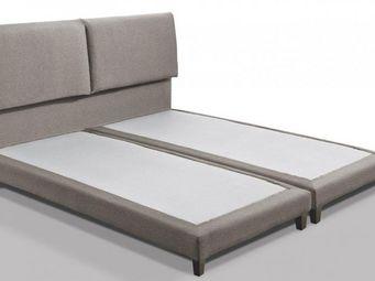 WHITE LABEL - lit design haut de gamme balzac 140*190 cm cuir éc - Lit Double