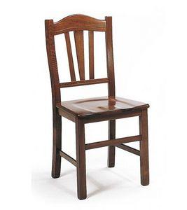 WHITE LABEL - chaise castellana design noyer foncé - Chaise