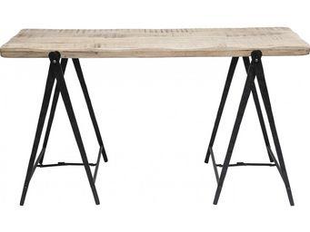 Kare Design - bureau en bois scissors 145x65 cm - Bureau