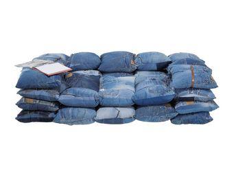 Kare Design - canapé jeans - Canapé 3 Places