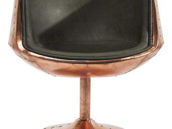 Kare Design - chaise pivotante club 54 brass - Fauteuil Rotatif