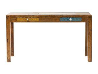 Kare Design - console soleil 2 tiroirs 135x40cm - Console