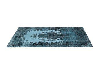 Kare Design - tapis en coton kelim pop turquoise 200x300cm - Tapis Contemporain