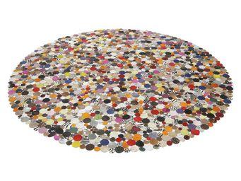 Kare Design - tapis rond circle multi 250cm - Tapis Contemporain
