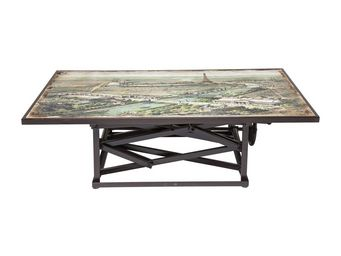 Kare Design - table basse en bois paris map 140x84 cm - Table Basse Carrée