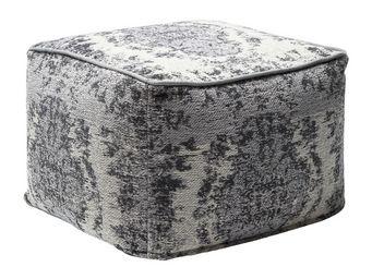 Kare Design - pouf kelim pop gris - Pouf