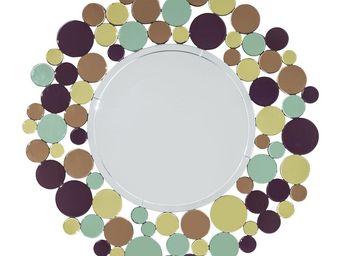 Kare Design - miroir circle crest 120cm - Miroir