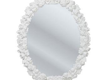 Kare Design - miroir fiorellino blanc 74x94 cm - Miroir