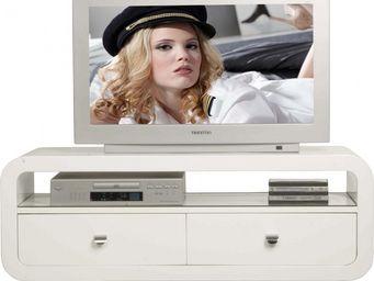 Kare Design - meuble tv 2 tiroirs white club - Meuble Tv Hi Fi