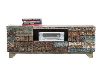 Kare Design - meuble tv shanti puzzle - Meuble Tv Hi Fi