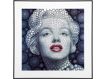 Kare Design - tableau marilyn 3d 60x60 cm - Tableau D�coratif