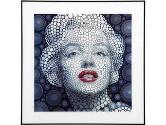 Kare Design - tableau marilyn 3d 60x60 cm - Tableau Décoratif