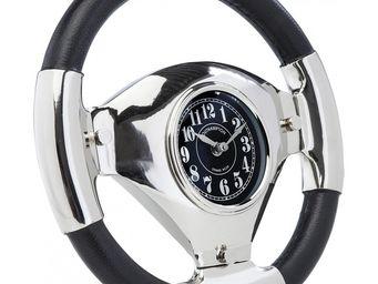 Kare Design - horloge de table steering wheel - Horloge Murale