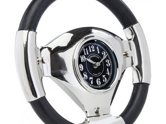 Kare Design - horloge de table steering wheel - Horloge Murale