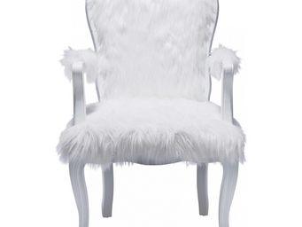 Kare Design - fauteuil baroque romantico fur - Fauteuil