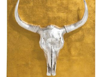 Kare Design - décoration murale bison 80x80 cm - Décoration Murale