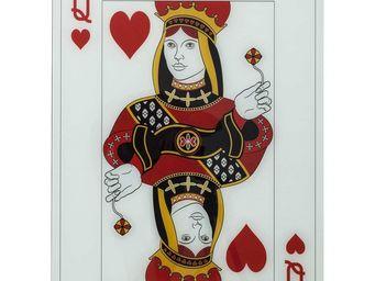 Kare Design - tableau queen of hearts 90x66 - Tableau Décoratif