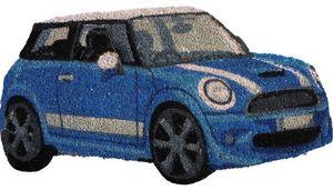 Aubry-Gaspard - paillasson mini bleue - Paillasson