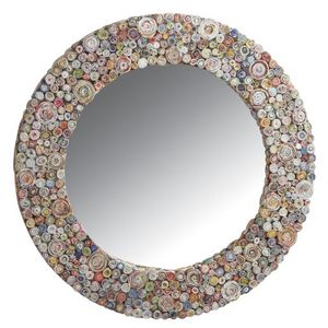 Aubry-Gaspard - miroir rond en papier recyclé - Miroir