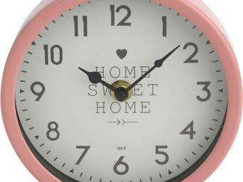 Amadeus - horloge scandi métal coloré rose - Horloge Murale