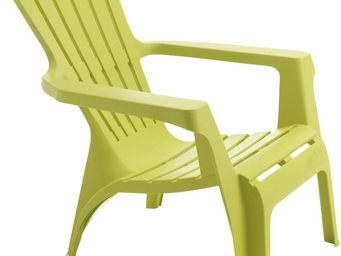 WILSA GARDEN - fauteuil adirondack en résine polypropylène anis - Fauteuil De Jardin