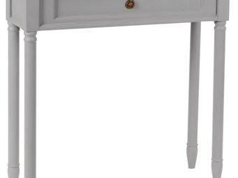 Amadeus - console faux tiroir en bois brice gris - Console