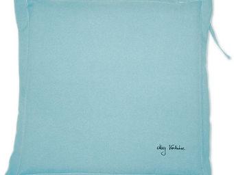PROLOISIRS - coussin extérieur galette 40cm bleu - Galette De Chaise