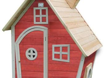 EXIT TOYS - maisonnette enfant fantasia rouge - Maison De Jardin Enfant