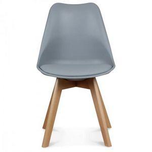 Demeure et Jardin - chaise design grise style scandinave toundra - Chaise