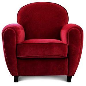 Demeure et Jardin - fauteuil club velours rouge cinema - Fauteuil