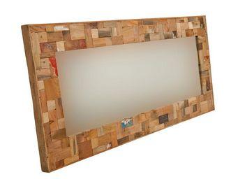 WHITE LABEL - miroir 160 cm - industry - l 160 x l 6 x h 70 - bo - Miroir
